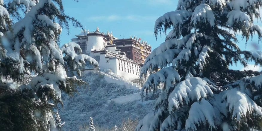 Tibet winter Potala Palace tour