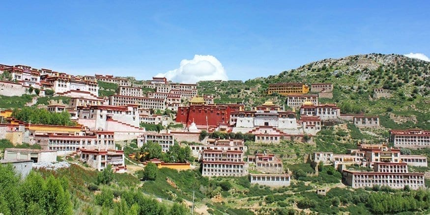 Explore Tibetan Ganden Monastery to the east of Lhasa