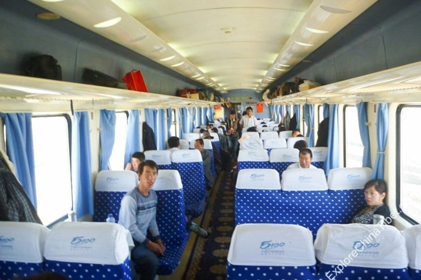 Chengdu to Lhasa Train Hard Seat-3rd Class Seat