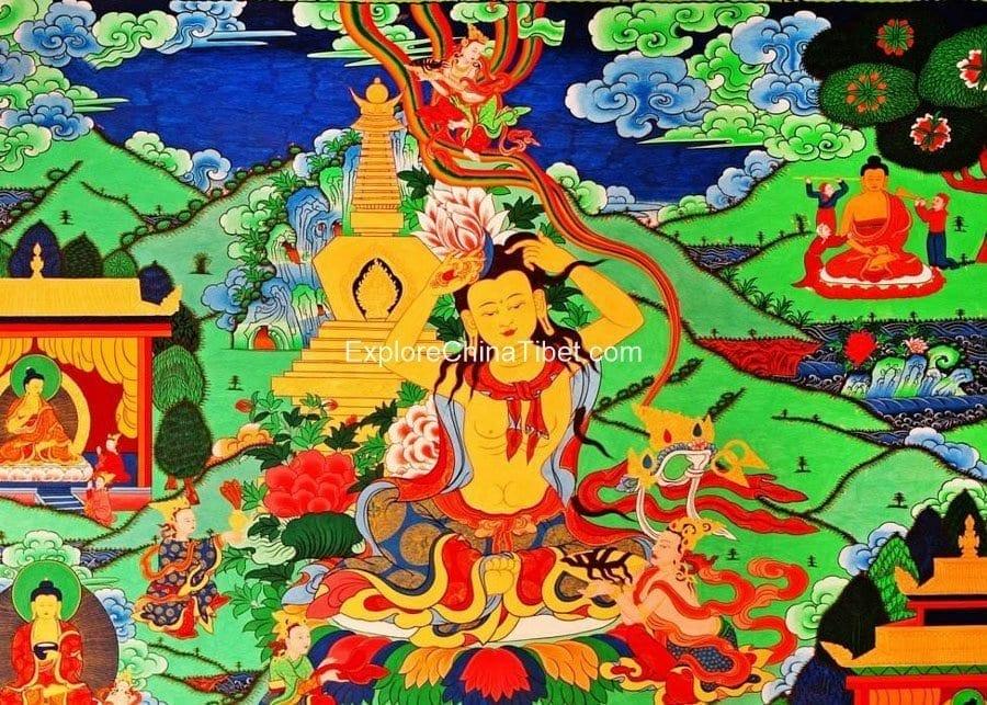 1 Day Tibetan Thangka Artist Tour With Tibetan Home Lunch-5