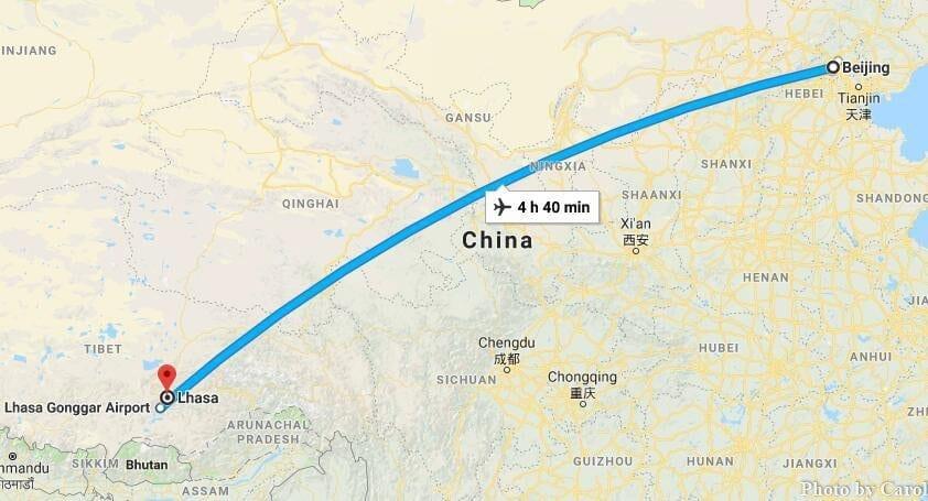 Cheap flights Travel from Beijing to Lhasa Tibet
