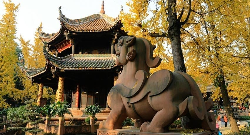 Chengdu Historic and Cultural Sites -Qingyang Palace