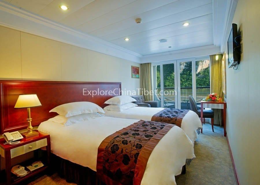 Chongqing to Yichang President Prime 6 Cruise Deluxe Standard Cabin