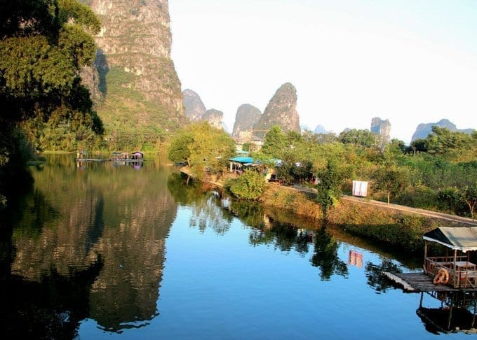 Guilin Mountain Countryside and Wild Nature Featured