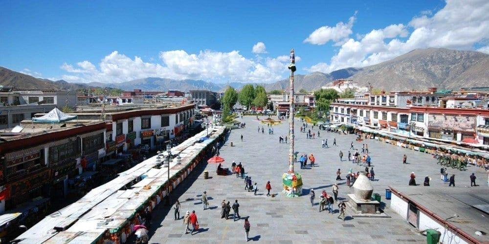 Jokhang Square Barkhor Lhasa Tibet tour