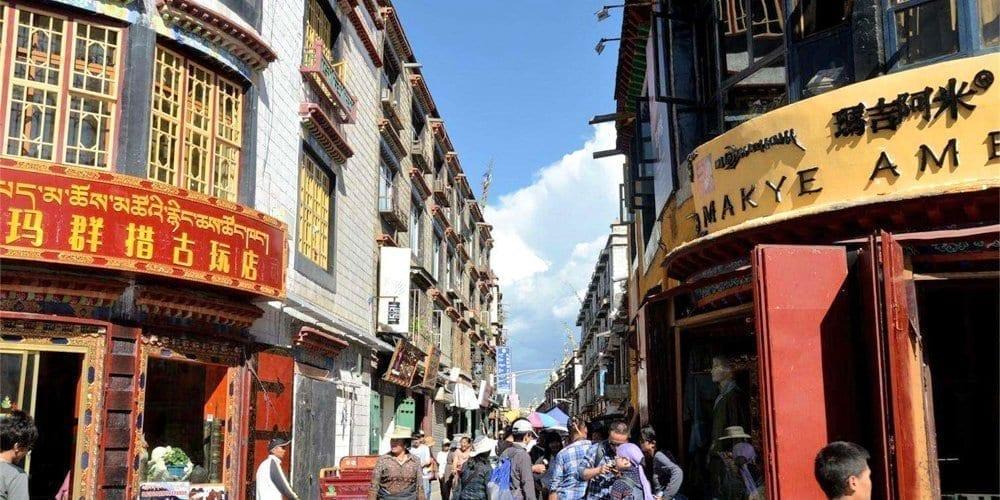 Lhasa Tour barkhor street sightseeing