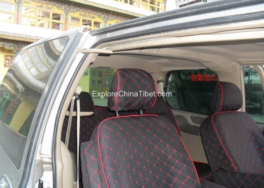 Tibet Car Rental Buick Van Rental- Rear Seats 1