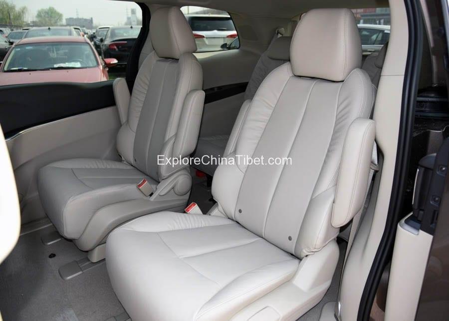 Tibet Car Rental Buick Van Rental- Rear Seats 2