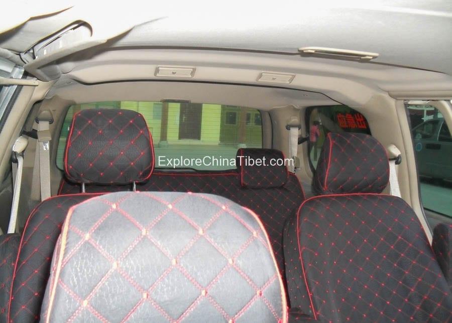 Tibet Car Rental Buick Van Rental- Rear Seats 4