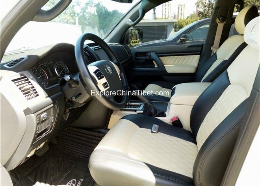 Tibet Car Rental Land Cruiser-Driving Seat