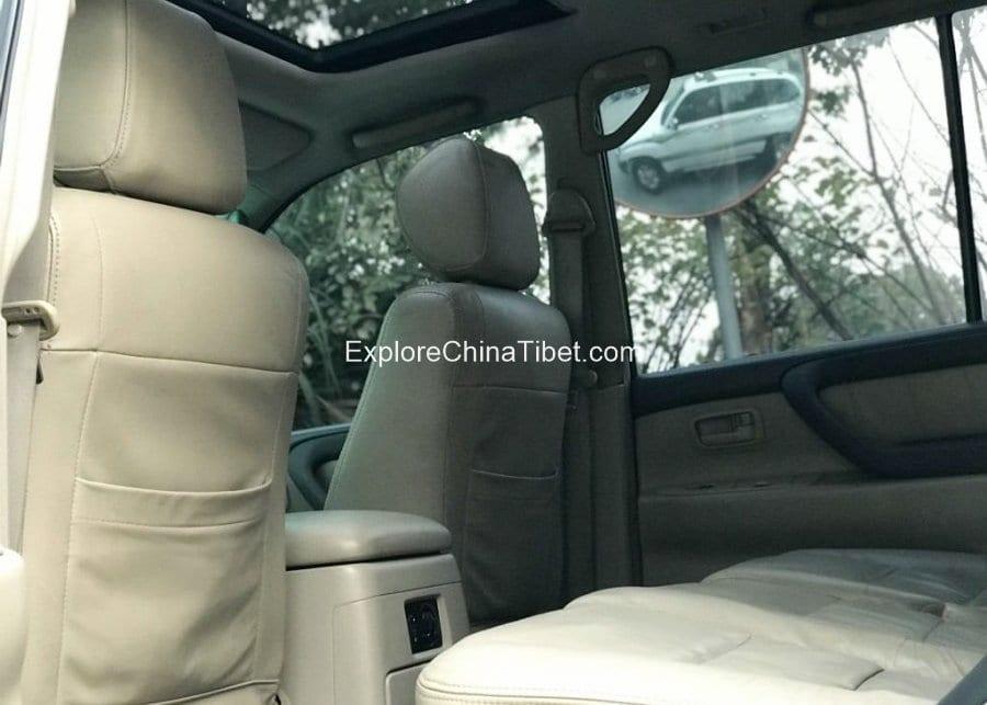 Tibet Car Rental Land Cruiser-Rear Seats 3