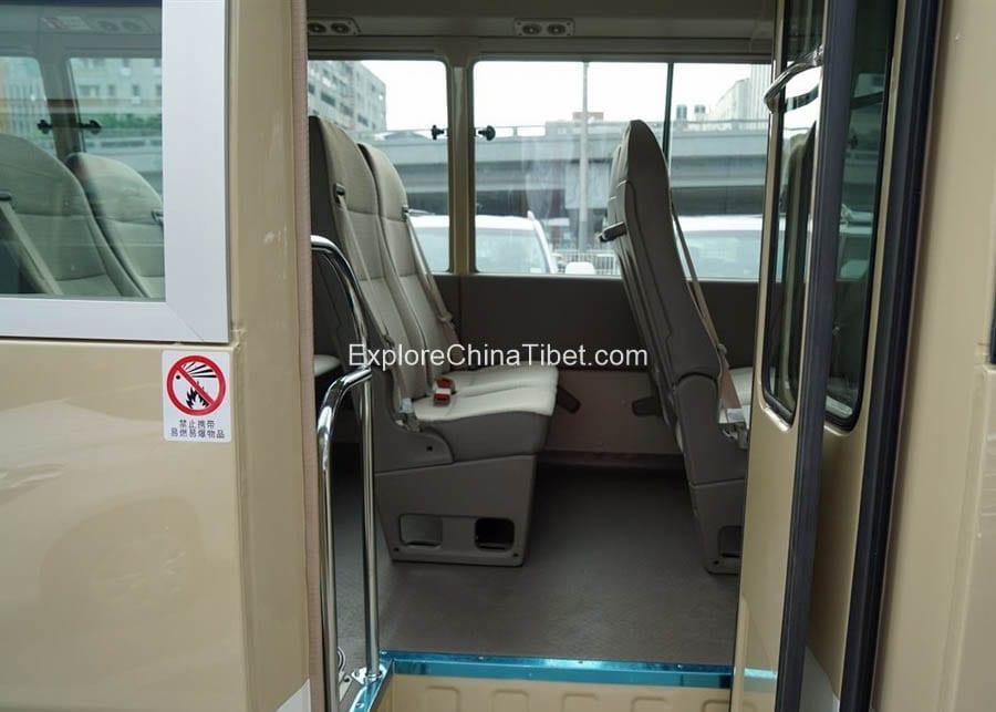Tibet Car Rental Toyota Coaster-Interior 4
