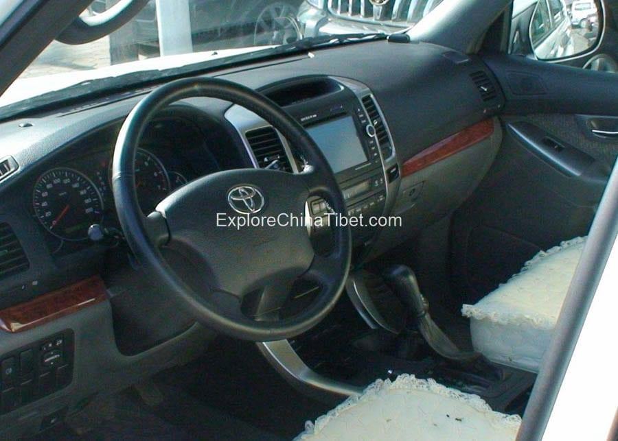 Tibet Car Rental Toyota Prado-Driving Seat 2