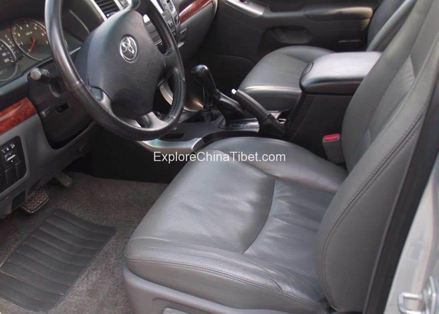 Tibet Car Rental Toyota Prado-Driving Seat 3