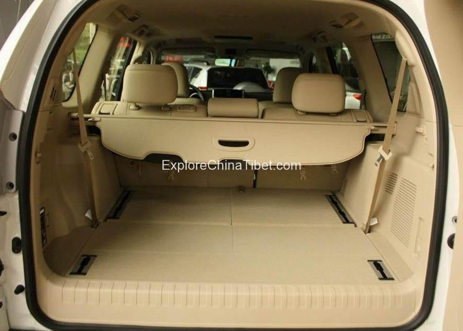 Tibet Car Rental Toyota Prado-Interior 1