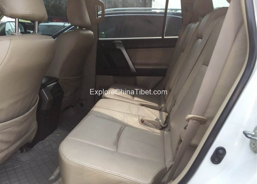 Tibet Car Rental Toyota Prado-Rear Seats 1