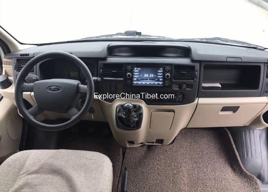 Tibet Car Rental Transit Ford Mini Bus-Driving Seat 1