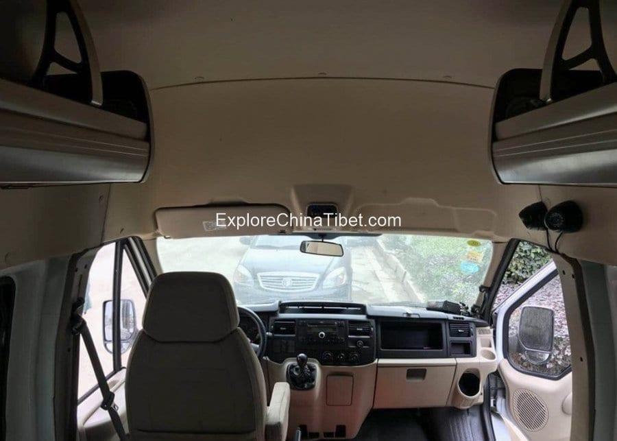 Tibet Car Rental Transit Ford Mini Bus-Interior