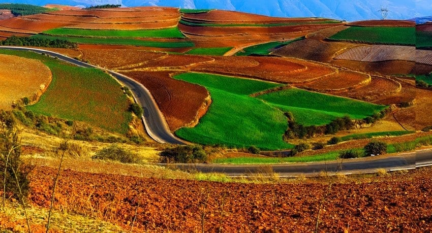 Top 6 Tour Attractions in Kunming-Dongchuan Red Land