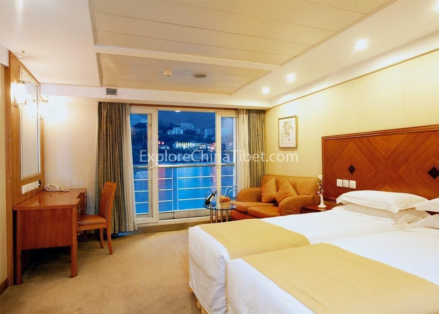 Yichang to Chongqing Century Sky Cruise Deluxe Cabins