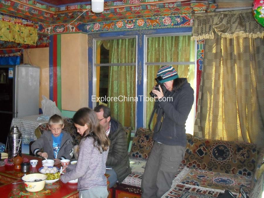 food at Tibetan family in countryside