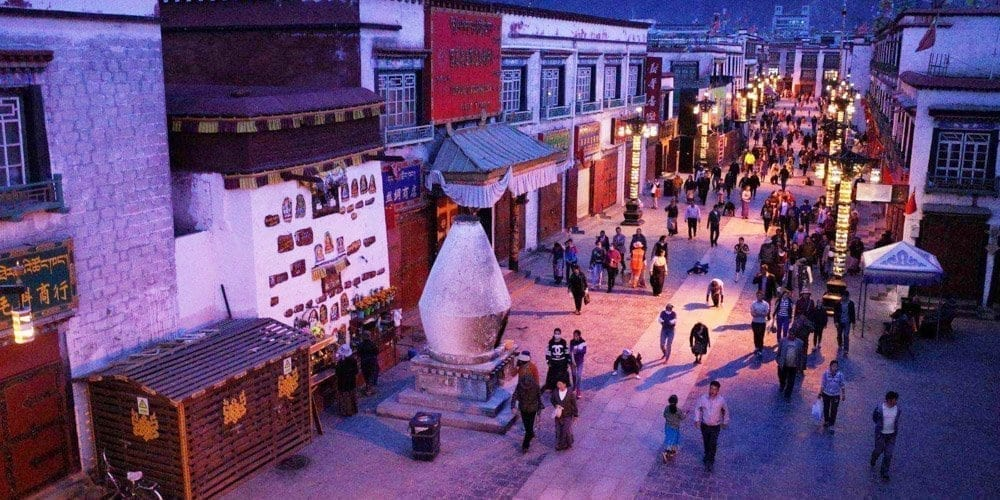 Tibet Lhasa Barkhor street picture