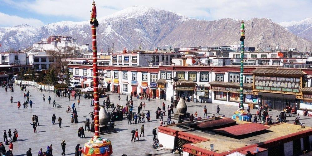 Tibet Lhasa city tour barkhor street Jokhang Temple square
