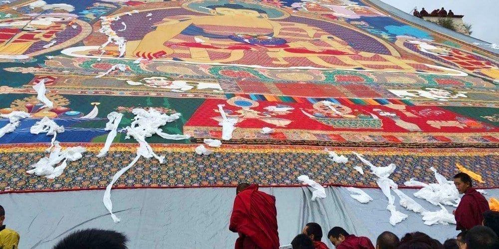 Drepung monastery-Tibetan Shoton Festival tour